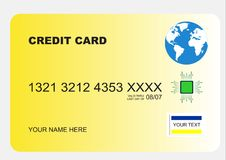zabezpieczyć kredytowe karty Zdjęcia Stock
