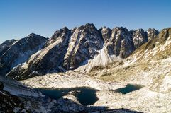 Zabie plesa Mengusovske Tatransky narodny park vysoke tatry Sistani fotografia royalty free