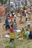 Zabiegana Targowa scena w Afryka obrazy royalty free