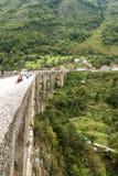 People at Tara Bridge. Tara Canyon. royalty free stock images