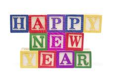zablokuj alfabetyczny nowego roku Obrazy Royalty Free