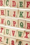 zablokuj drewnianą alfabet Obraz Royalty Free