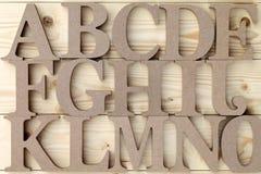 zablokuj drewnianą alfabet Obrazy Royalty Free