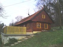 Zabok. Croatia-Cottage-Old house Stock Photos
