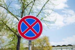 Zabraniać ruchu drogowego znaka Fotografia Stock