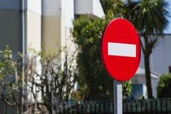 Zabraniający przechodzić fotografia stock