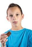 Zabranie kąsek słodka bułeczka Obrazy Royalty Free