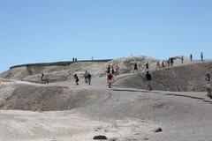 Zabriske点在死亡谷国家公园 库存图片