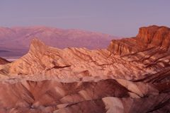 Zabriske badlances in twilight Royalty Free Stock Photo