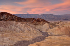 Zabriske badlands Royalty Free Stock Images