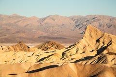 Zabriske Point at dawn. Death Valley National park, California, USA royalty free stock photo