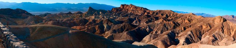 Zabriske point panorama Stock Photography