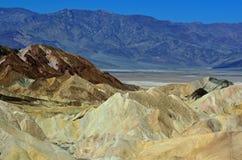 Zabriske punkt, Śmiertelny Dolinny park narodowy, Kalifornia, usa Obrazy Royalty Free