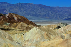 Zabriskepunt, het Nationale Park van de Doodsvallei, Californië, de V.S. Royalty-vrije Stock Afbeeldingen