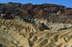 Zabriskepunt, het Nationale Park van de Doodsvallei, Californië, de V.S. Stock Fotografie
