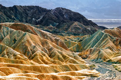 Zabriski point of Death Valley Royalty Free Stock Photos