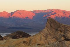 Zabriski point at sunrise Stock Photography