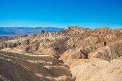 Zabriskie点在死亡谷国家公园 图库摄影