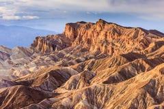 Zabriskie点,死亡谷国家公园,加利福尼亚 免版税库存图片