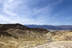 Zabriskie点,死亡谷,加利福尼亚,美国 免版税图库摄影