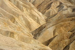 Zabriskie Point. A close up shot of Zabriskie Point in California's Death Valley National Park Stock Images