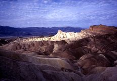 ZABRISKIE POINT. Lighted up  by sun rays in Death Valley Stock Images