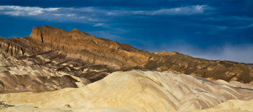 Zabriskie Point. Panoramic landscape of Zabriskie Point in Death Valley National Park, California, U.S.A Royalty Free Stock Images