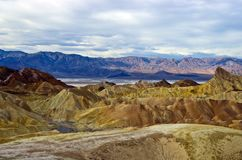 Zabriskie Point in Death Valley Royalty Free Stock Images