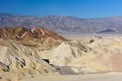 Zabriskie Point, Death Valley Royalty Free Stock Photos