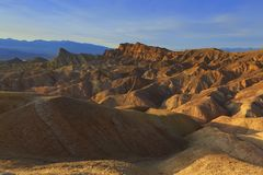 Zabriskie Point Death Valley Royalty Free Stock Image