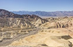 Zabriskie Point at Death Valley,California Royalty Free Stock Images