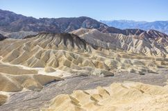 Zabriskie Point at Death Valley,California Royalty Free Stock Image