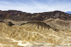Zabriskie point, death valley, california, usa Royalty Free Stock Photos