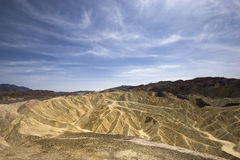 Zabriskie point, death valley, california, usa Royalty Free Stock Photo