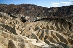 Zabriskie Point, Death Valley National Park Royalty Free Stock Photo