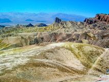Zabriskie Point at Death Valley National Park, California, U.S.A. royalty free stock images