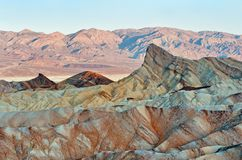 Zabriskie Point in Death Valley National Park in California, USA Royalty Free Stock Photography