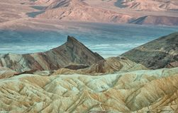 Zabriskie Point in Death Valley National Park in California, USA. Zabriskie Point in Death Valley National Park in California, United States Royalty Free Stock Images