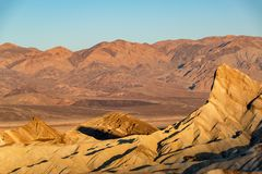 Zabriskie Point at Sunrise Royalty Free Stock Images