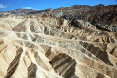 Zabriskie Point, Death Valley National Park, USA, California Royalty Free Stock Images