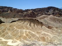 Zabriskie point death valley - USA America royalty free stock photos