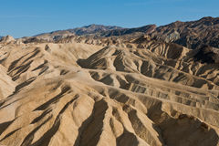 Zabriskie Point dunes in CA  Royalty Free Stock Photos