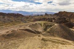 Zabriskie Point at extreme heat, Death Valley, USA Stock Photos