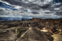 Zabriskie Point at extreme heat, Death Valley, USA, HDR image Stock Photos