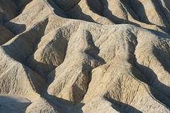 Zabriskie Point landscape. Aerial view of manifold ridge formations in Zabriskie Point landscape, Death Valley National Park, America Stock Images