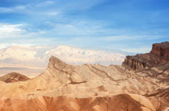 Zabriskie Point Mountain Range in East Part of Death Valley Nati Stock Photography