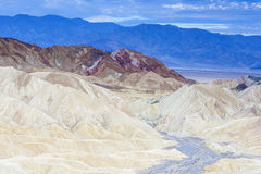 Zabriskie Point National Park Located in Death Valley, Californi Royalty Free Stock Image