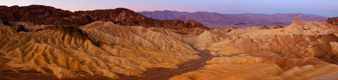 Zabriskie Point Panorama Stock Image