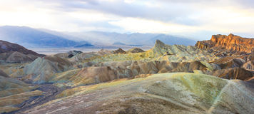 Zabriskie Point Panorama (High Res), Death Valley National Park Stock Photography