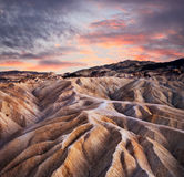 Zabriskie Point Ridges Stock Images